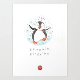 Penguin Nursery Illustration Art Print