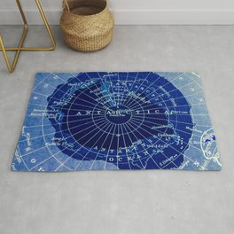 South Pole Neon Map Rug