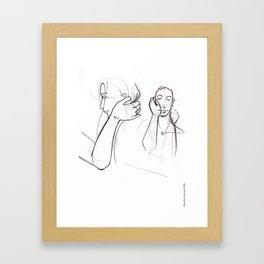 Warm in my heart Framed Art Print