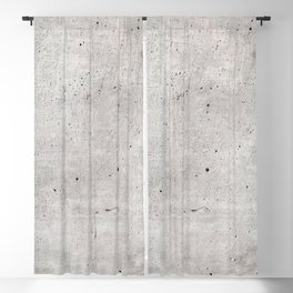 Smooth Concrete Small Rock Holes Light Brush Pattern Gray Textured Pattern Blackout Curtain