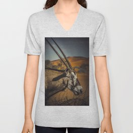Oryx Antilope Unisex V-Neck