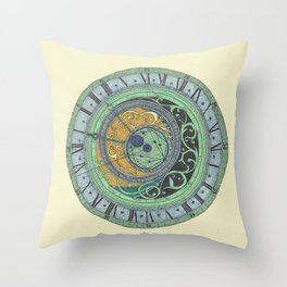 Astrolabe Studies Throw Pillow
