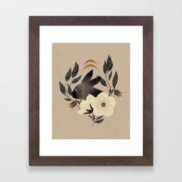 Two Moons Rabbit Framed Art Print