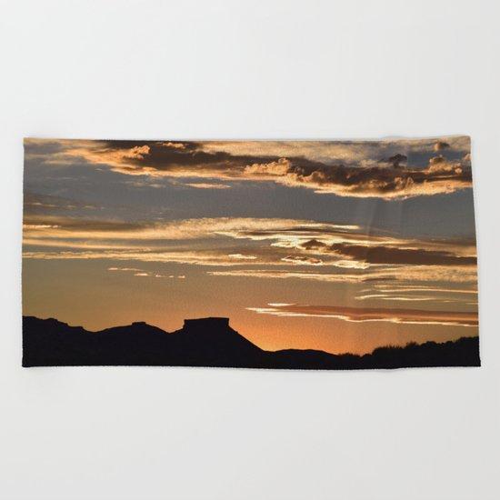 Golden Mesa Sunset Beach Towel
