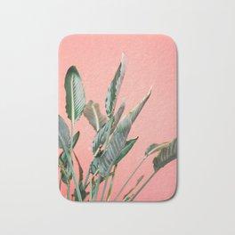 Palm on pink | Botanical photography print | Spain travel photo art Bath Mat