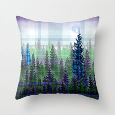 Plaid Forest Throw Pillow