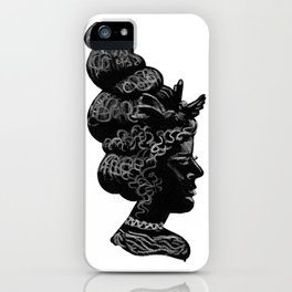 Silhouette of a Lady iPhone Case