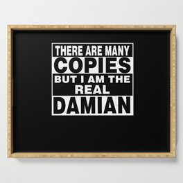 I Am Damian Funny Personal Personalized Fun Serving Tray