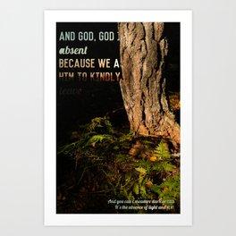 God, God is Absent Art Print