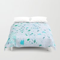 pain Duvet Covers featuring Cold pain by Manuela Mishkova