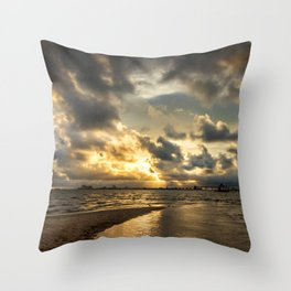 Golden Summer Evening Throw Pillow