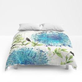 Dandelions Blue Comforters
