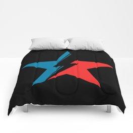 Bowie Star black Comforters