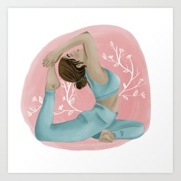 Yoga Time Art Print
