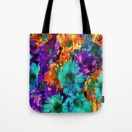 Colored Daisies Tote Bag
