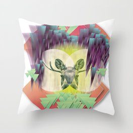 Neon Ritual Throw Pillow