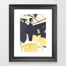 Les Parisiens - Gérant de Café Framed Art Print