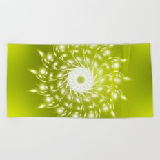 Mandala Green Beach Towel
