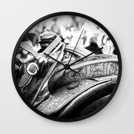 Get Back In The Saddle Wall Clock