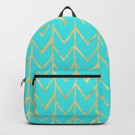 Festive Chevron Pattern Backpack