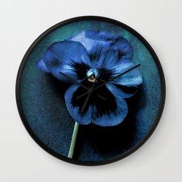 Just After Midnight Fine Art Photographic Textured Flower Print  Wall Clock