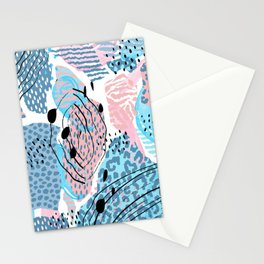 Pastel colors organic shapes pattern Stationery Cards