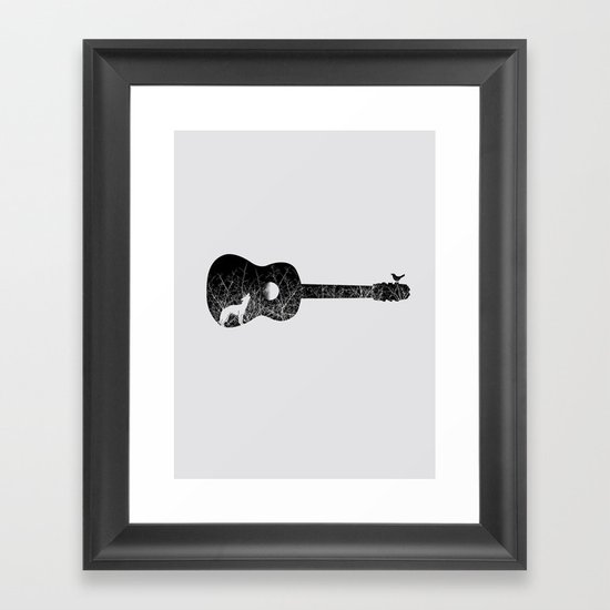 Night sounds Framed Art Print