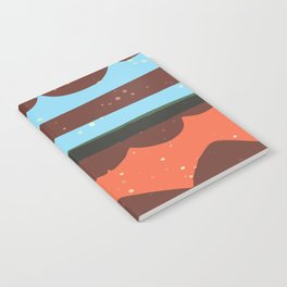 Abstract Graphic Digital Art Background GC-117-1 Notebook