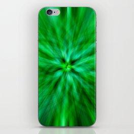 Green Star Flower Glow iPhone Skin