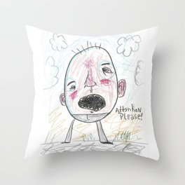 Attention Please Throw Pillow