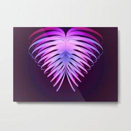 Ribbon Heart print Metal Print