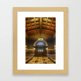 Union Station Information Framed Art Print