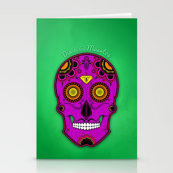 dia de los muertos (sugar skull) Stationery Cards