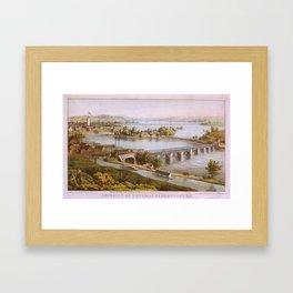 Vintage Aqueduct of Georgetown Map (1865) Framed Art Print