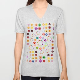 Many Flowers Unisex V-Neck