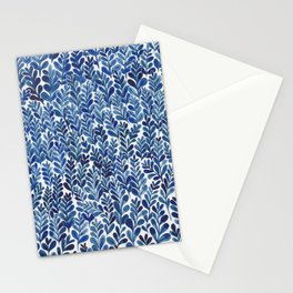 Indigo blues Stationery Cards