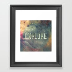 Explore III Framed Art Print
