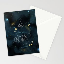 To the stars who listen... Stationery Cards