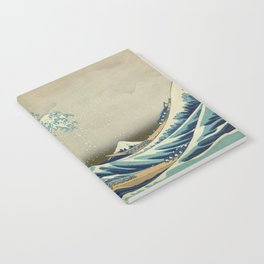 The Classic Japanese Great Wave off Kanagawa Print by Hokusai Notebook