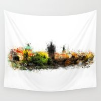prague Wall Tapestries featuring Prague panorame by jbjart