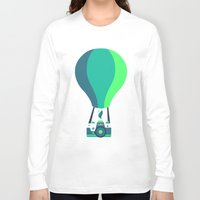 baloon Long Sleeve T-shirts featuring Camera-baloon BLACK by GioDesign