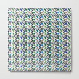 Moroccan Ceramic Tiles Mosaic Metal Print