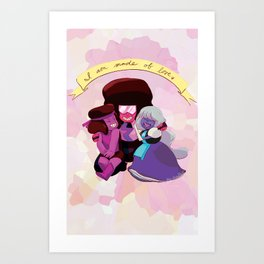 I Am Made of Love - Garnet Print Art Print