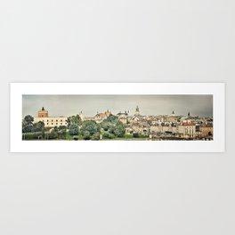 Panorama of Lublin Art Print