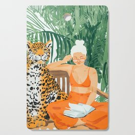 Jungle Vacay #painting #illustration Cutting Board