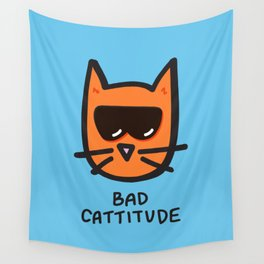 Bad Cattitude Wall Tapestry