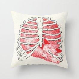 Weary Bones Throw Pillow