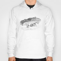 mad max Hoodies featuring Mad Max Interceptor by Ewan Arnolda
