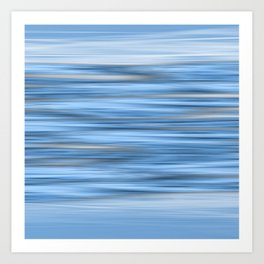 Abstract flowing blue stripes Art Print