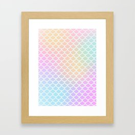 Rainbow Mermaid Scales Framed Art Print